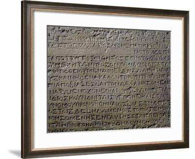 Stele with Inscriptions in Greek, Greek-Roman Empire--Framed Giclee Print