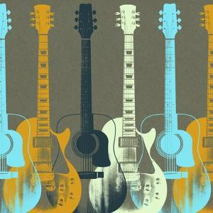 Guitars 5 by Stella Bradley