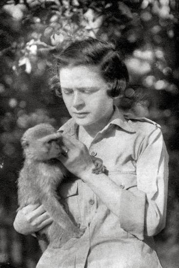 Stella Court Treatt and Her Monkey Kima, Dodoma to Mongalla, East Africa, 1925-Thomas A Glover-Giclee Print