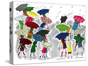 Umbrellas - Jack and Jill, April 1945 by Stella May DaCosta