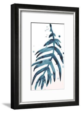 Stems in Indigo IV-June Erica Vess-Framed Art Print