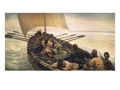 Stenka Razin Sailing in the Caspian Sea-Vasilii Ivanovich Surikov-Art Print