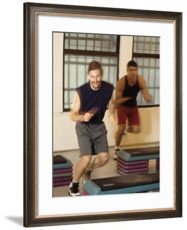 Step Aerobics Class--Framed Photographic Print