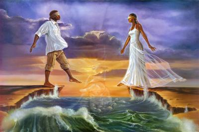 Step Out on Faith-Kevin A^ Williams-Art Print
