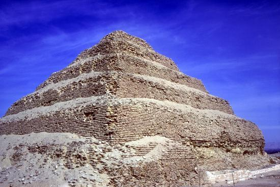 Step Pyramid of King Djoser (Zozer), Saqqara, Egypt, 3rd Dynasty, C2600 Bc- Imhotep-Photographic Print