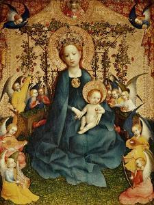 Madonna and Child in the Rose-Garden. by Stephan Lochner