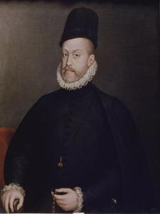 Portrait of Philipp II, of Spain, Ca, 1580 by Stephan Lochner