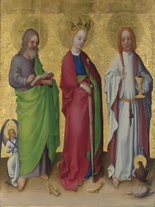 Saints Matthew, Catherine of Alexandria and John the Evangelist, C. 1450 by Stephan Lochner