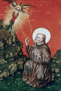 St Francis Receiving the Stigmata, C1430-1451 by Stephan Lochner
