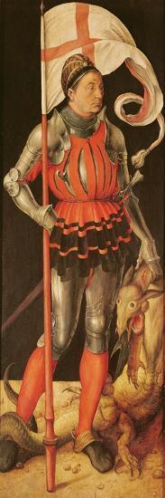 Stephan Paumgartner Portrayed as Saint George, Left Panel of the Paumgartner Altarpiece, C.1500-Albrecht D?rer-Giclee Print