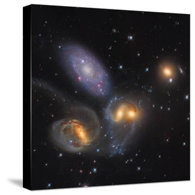 Stephan's Quintet, a Grouping of Galaxies in the Constellation Pegasus