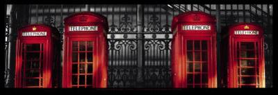 Red Telephone Boxes, London by Stephane Rey-Gorrez