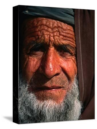 Bearded Afghan Man, Looking at Camera, Mazar-E Sharif, Afghanistan