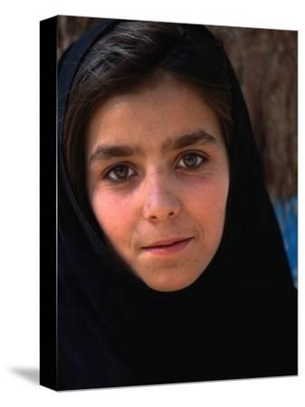 Girl at Aschiana School, Looking at Camera, Kabul, Afghanistan