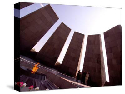 People at Genocide Memorial, Yerevan, Armenia