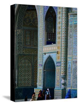 People Visiting Shrine of Hazrat Ali (Blue Mosque), Mazar-E Sharif, Afghanistan