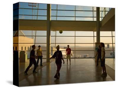 Playing Soccer at Ben Gurion Airport, Tel Aviv, Israel