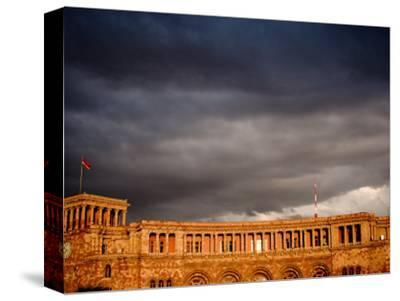 Storm Clouds Over Ministry of Finance and Economy Building, Yerevan, Armenia