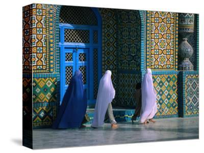 Worshippers Visiting Shrine of Hazrat Ali (Blue Mosque), Mazar-E Sharif, Afghanistan