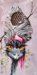Emu with Hornet's Nest by Stephanie Aguilar