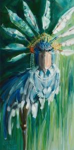 Stork with Feathered Crown by Stephanie Aguilar