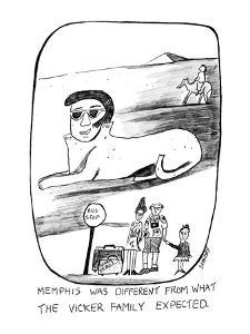 Memphis Was Different From What the Vicker Family Expected - New Yorker Cartoon by Stephanie Skalisky