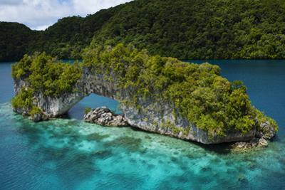 A Limestone Island Formation Shaped By Wind and Water