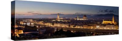 A Panoramic Shot of Florence at Dusk