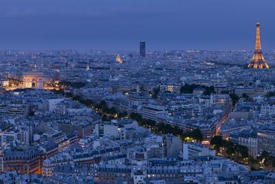 A Panoramic View of the City of Paris, France
