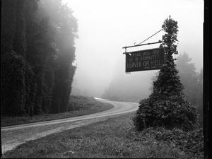 A Sign Covered in Kudzu on Highway 74 Near Bryson City, North Carolina by Stephen Alvarez