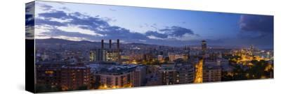 A Stitched Panorama of Barcelona, Spain, From the Mirador on Monjuic
