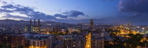 A Stitched Panorama of Barcelona, Spain, From the Mirador on Monjuic by Stephen Alvarez