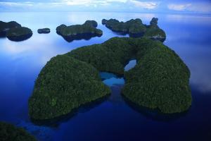 An Aerial Photo of Palau's Rock Islands by Stephen Alvarez