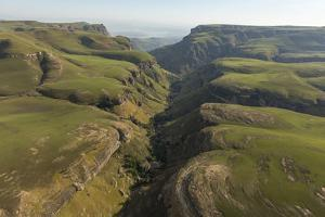 An Aerial View of a Valley in the Drakensberg Mountains by Stephen Alvarez