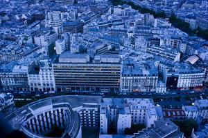 An Aerial View of Paris in the Evening by Stephen Alvarez