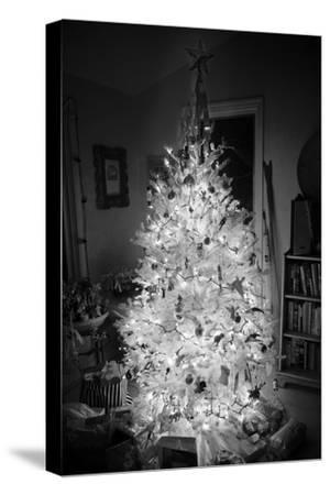 An Infrared Shot of a Brightly-lit Indoor Christmas Tree