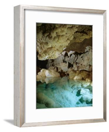 Art Palmer at Lake of the Clouds in Carlsbad Caverns Lower Cave