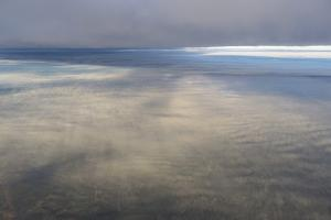 Clouds Outside the Airplane Window Coming in to Land in Atlanta, Georgia by Stephen Alvarez