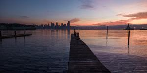 Dawn Breaks Above Downtown Seattle by Stephen Alvarez