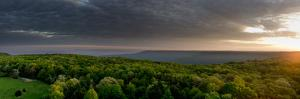 Dawn Breaks with Heavy Clouds Over Forested Roarks Cove by Stephen Alvarez
