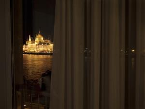 Hungarian Parliament from a Hotel Room across the Danube River by Stephen Alvarez
