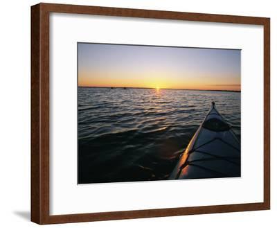 Kayak Sits in the Marsh Around Carrot Island Before Sunset