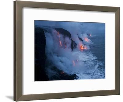 Lava Flows into the Ocean, Hawaii Volcanoes National Park, Hawaii