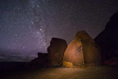 Petroglyphs Beneath a Starry Night