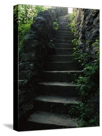 Stone Stairs Lead to the Top of Morgans Steep in Sewanee