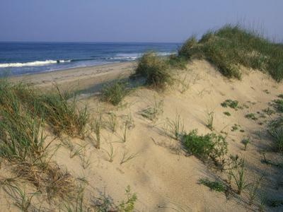 The Atlantic Ocean Rolls in Along the Dunes at Avon