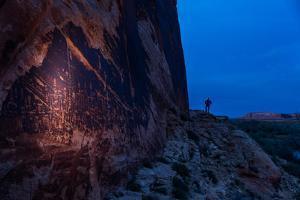 The Butler Wash Petroglyph Panel in the San Juan River Canyon by Stephen Alvarez