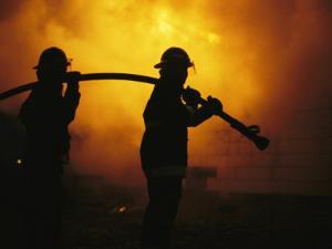 The Sewanee Volunteer Fire Department Practices Firefighting by Stephen Alvarez