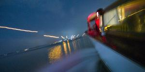 View from a Water Taxi as it Makes its Way Toward Venice by Stephen Alvarez