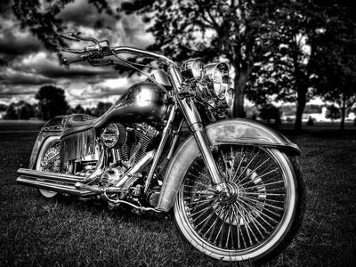 Harley-Davidson Motor Picture Print